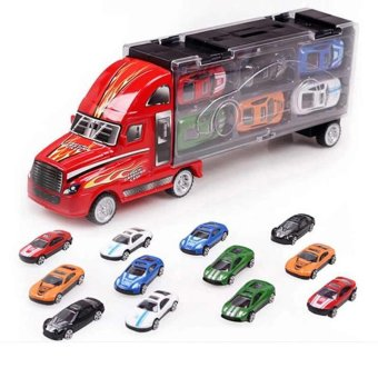 Children's Gift Portable Container Toy Cars 6 Alloy Car Alloy Car Models - intl Price Philippines