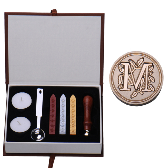Harga AM Letter Alphabet Wax Badge Seal Stamp w/Wax Kit Set Letter A-Z Optional (Intl)