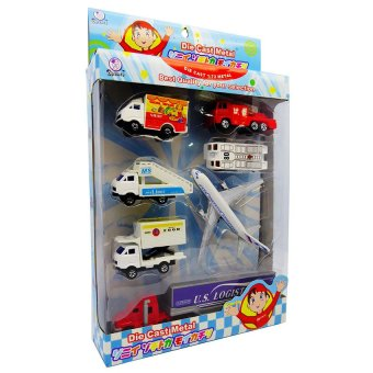 Harga Diecast Airplane and Cars Playset (5886SP)