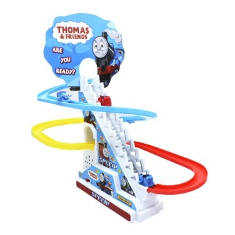 Harga Thomas And Friends Trackmaster Climbing stairs set ,Tomas train LED light music Electric Rail Road kits boy assembly toys car