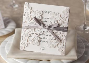 Harga EOZY Wedding Party Invitation Card (White) - intl