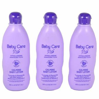 Baby Care Plus Calming Baby Lotion Set of 3 200mL Price Philippines