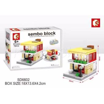 Harga Sembo Block SD6602 McDo Building Blocks