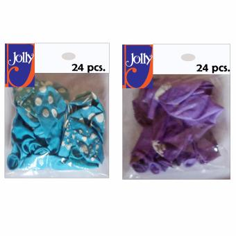 Harga Happy Birthday Balloons 24`s Sky Blue & 24`s Violet