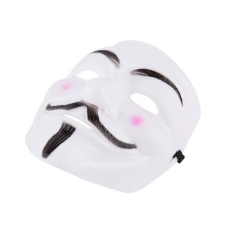 Harga Allwin New V for Vendetta Anonymous Movie Adult Men White Mask Halloween Costume Cool