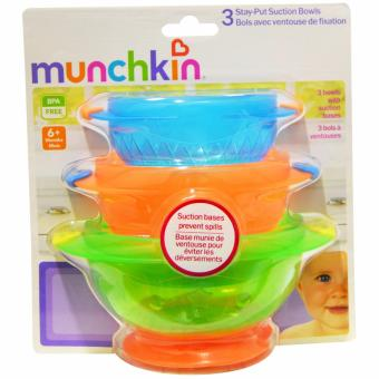 Munchkin 3PK Stay Put Suction Bowl (Multicolor) Price Philippines