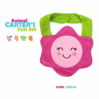 Harga Carter's Bib Animal design Pink Flower Cotton