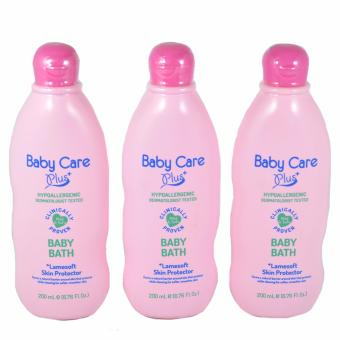 Baby Care Plus Baby Bath Pink with Lamesoft Skin Protector Set of 3 200 mL Price Philippines