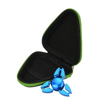Harga Gift For Fidget Hand Spinner Triangle Finger Toy Focus Autism Bag Case Green - intl