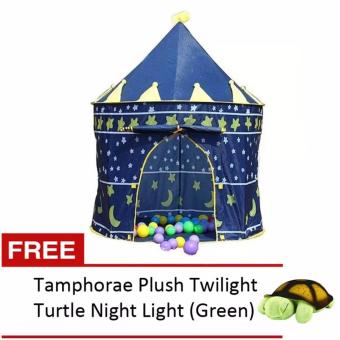 Kiddie Castle Tent (Blue) with FREE Amphorae Plush Twilight Turtle Night Light (color may vary) Price Philippines