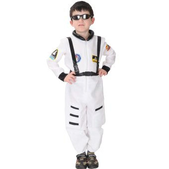 Harga EOZY Kids Astronaut Costume Child Profession Cosplay Outfit Boys Fantasia Halloween Fancy Dress -M (White)