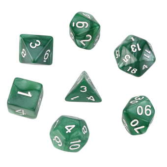 OH 7pcs/Set Games Multi Sides Acrylic Dice D4 D6 D8 D10 D12 D20 Game Playing Price Philippines