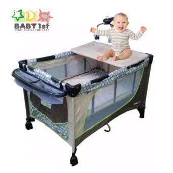 Baby 1st P510DCR New Baby Playpen Crib (Brown) Price Philippines