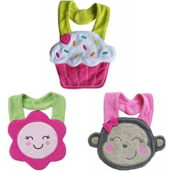 Lovely 3 Pcs Baby Girl Bibs Price Philippines