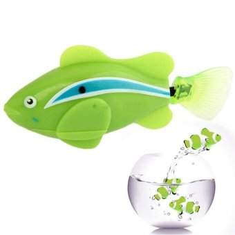Harga Popular Robo Fish / Electric Pet Fish Toy Gifts for Kids Children Green - intl