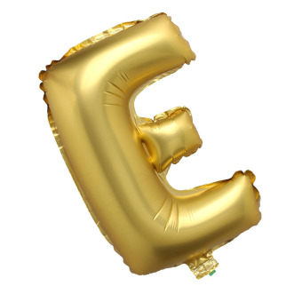 Letter E Gold Big Foil Balloon Inflated Ball Wedding Party Supplies 40 Inch - intl Price Philippines