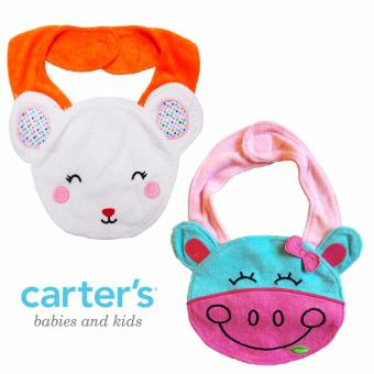 Harga Carter's Terry Teething Bib Set, Bear & Cow