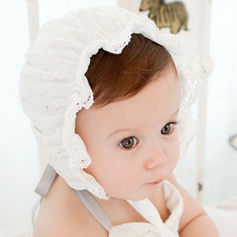 Kids Girls Baby Hat Beanie New Lace Stars Caps(Beige) Price Philippines