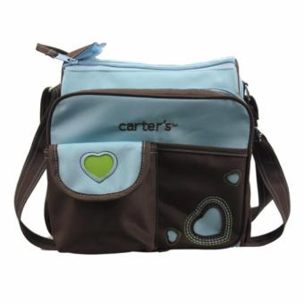 Harga Carter's Nappy Heart Diaper Bag, Blue