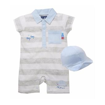 Harga Beep Beep Romper With Cap For 0-3 Months Old