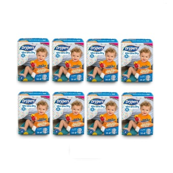 Harga Drypers Wee Wee Dry Diapers Regular Pack XL 16's Pack of 8