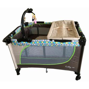 Baby 1st Playpen Crib (TOBBY.CO) with Accessories (Brown/Beige) Price Philippines