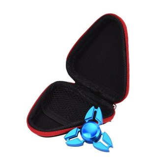 Harga Gift For Fidget Hand Spinner Triangle Finger Toy Focus ADHD Autism Bag Case Red - intl