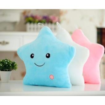 LED colorful lights (BLUE) star pillow baby stuffed plush toys Price Philippines