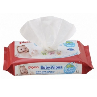 Harga Pigeon Water Base Baby Wipes Refill 82's