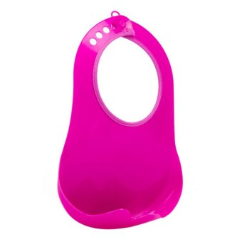 Harga T014 Polypropylene Plastic Solid Waterproof infant bibs Baby Feeding Silicone Bibs Rose