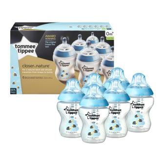 Tommee Tippee Closer to Nature 260ml Blue Bee Decorated Baby Feeding Bottles 6 Pack Price Philippines