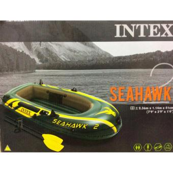 Partyline Intex Inflatable Swim Boat SeaHawk2/2oars/pump-2.36x1.14x.41m Price Philippines