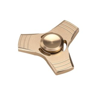 EDC Fidget Spinner High Speed Stainless Steel Bearing ADHD Focus Anxiety Toys Gold - intl Price Philippines