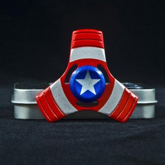 Captain America Fidget Spinner Fidget Toy Hand Spinner EDC Desk Focus Toy Fidget Spinner Toy for Kids Adults - intl Price Philippines