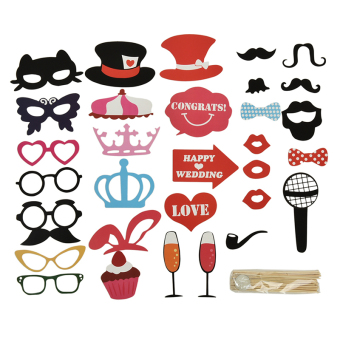 Buytra 1 Set Photo Booth DIY Mask Mustache Stick Props Wedding Birthday Christmas Party Multi Price Philippines