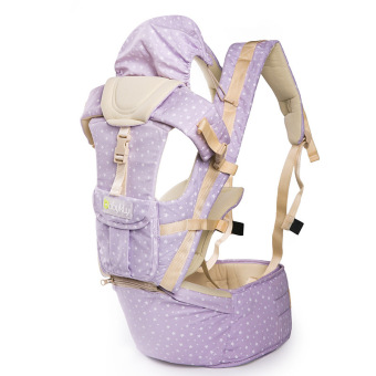 4 in 1 Cotton 3D Breathable Multi-functional Baby Soft Carrier Star Light Purple Price Philippines