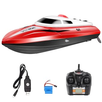 Harga 2.4GHZ 4CH Children's Toys Speed RC Boat High Performance Waterproof Boat-Red