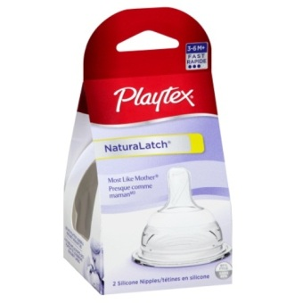 Harga 2pcs Playtex Natural Latch Fast Flow Nipple for 3-6M+