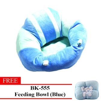MMC New Baby Sitting Chair Soft Baby Nursing Pillows 002 (Blue) With Free BK-230 (Pink) Price Philippines