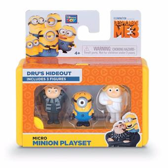 Harga Despicable Me 3 Micro Minion Play-Sets With 3 Figures - Dru's Hide Out