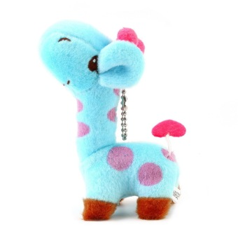 OH Lovely Cute Kids Child Giraffe Gift Soft Plush Toy Baby Stuffed Animal Doll (Blue) Price Philippines