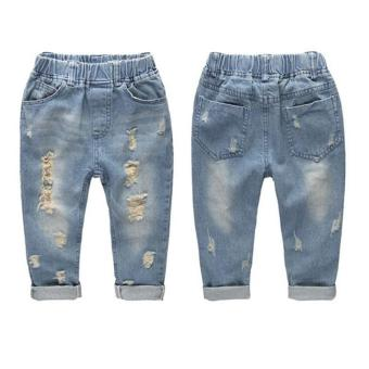 Harga PAlight Baby Boys Jeans Pants Ripped Jeans Casual Trousers - intl