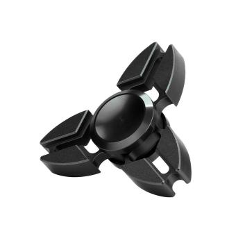 Tri Fidget Hand Spinner Triangle Alloy Finger Toy EDC Focus ADHD Autism (Black) Price Philippines