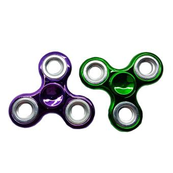 Harga Fidget Gyro Spinner 2pieces (metallic green/violet)