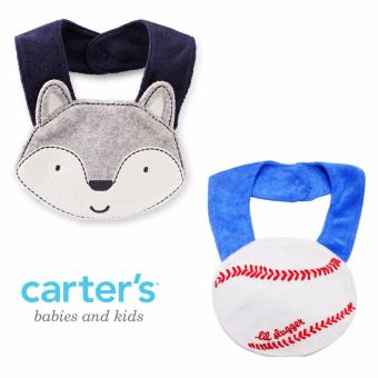Harga Carter's Terry Teething Bib Set, Baseball & Fox