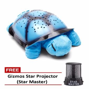 Plush Twilight Turtle Night Light (Blue) with Free Gizmos Star Projector (Star Master) Price Philippines