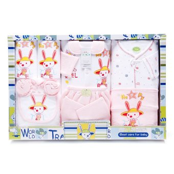 Harga Cutie Infant 9 Piece World Travel Clothes Gift Set (Pink)
