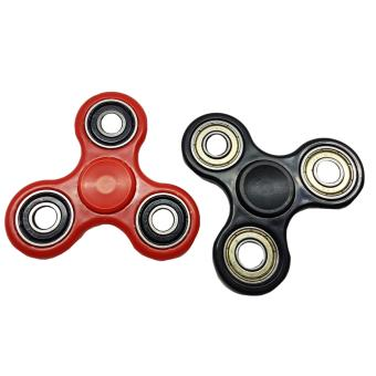 Harga Hand Fidget Gyro Spinner 2pieces (black/red)