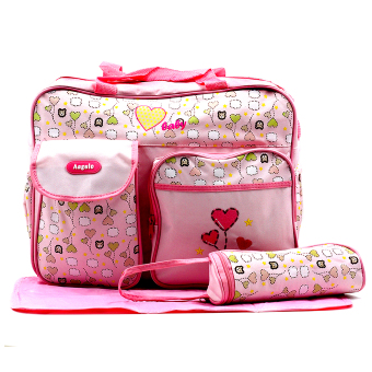 BABY STEPS Angelo Hearts Fashion Diaper Bag (Pink) Price Philippines