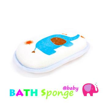 Harga Baby Little Elephant Bath Sponge (Blue)